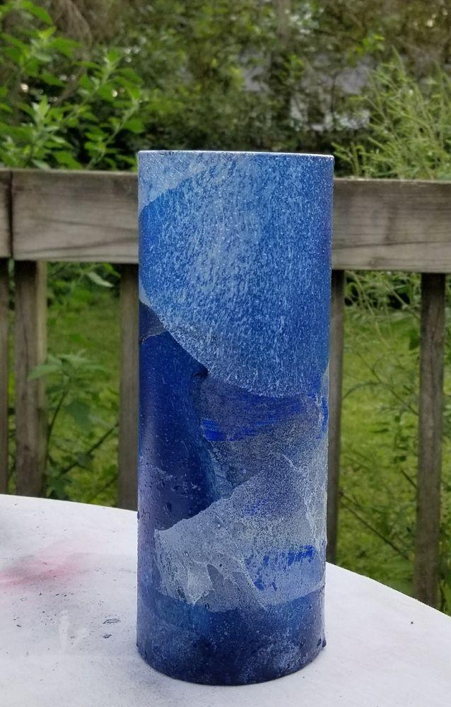 Blue Modern Vasehand Painted Navy Blue Vaseblue Glass Vase