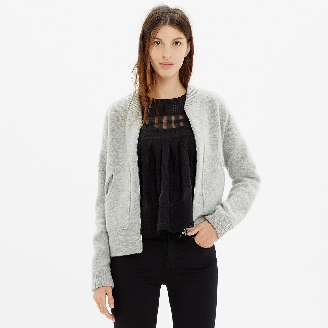 Bomber Cardigan Cardigan, Madewell sweater, Madewell jacket