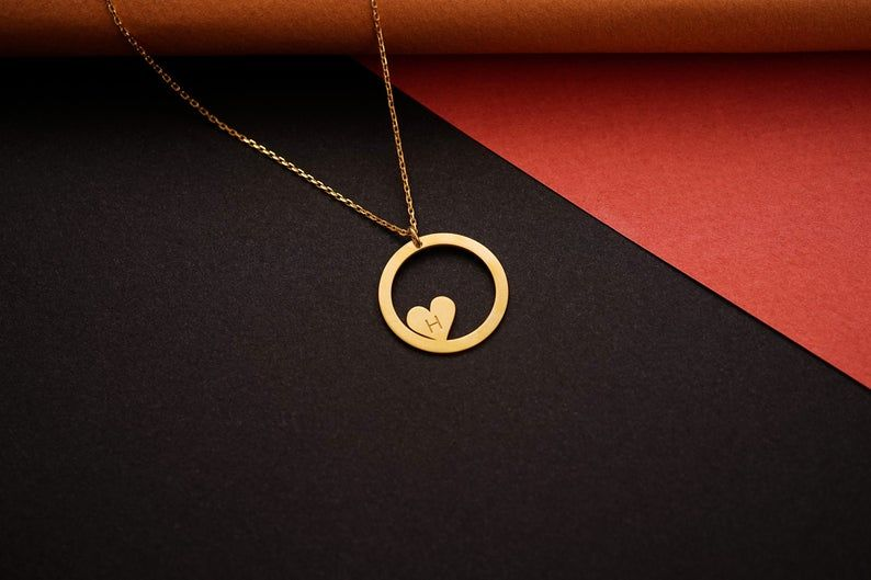 Photo of Gold Heart Necklace, Dainty Necklace, Dainty Jewelry, Gift For Her, Simple Necklace, Gift For Women, Dainty Necklace, Birthday Gift For Her