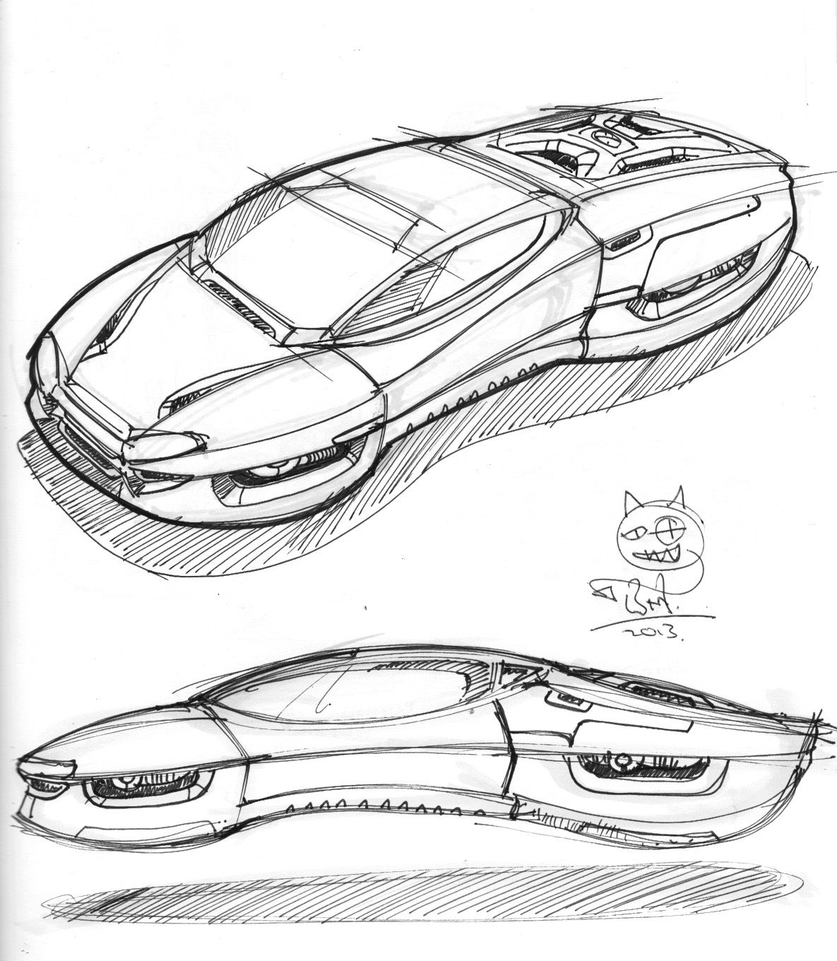 Hover Car Weekend Doodle 19102013 Sci Fi Vehicles