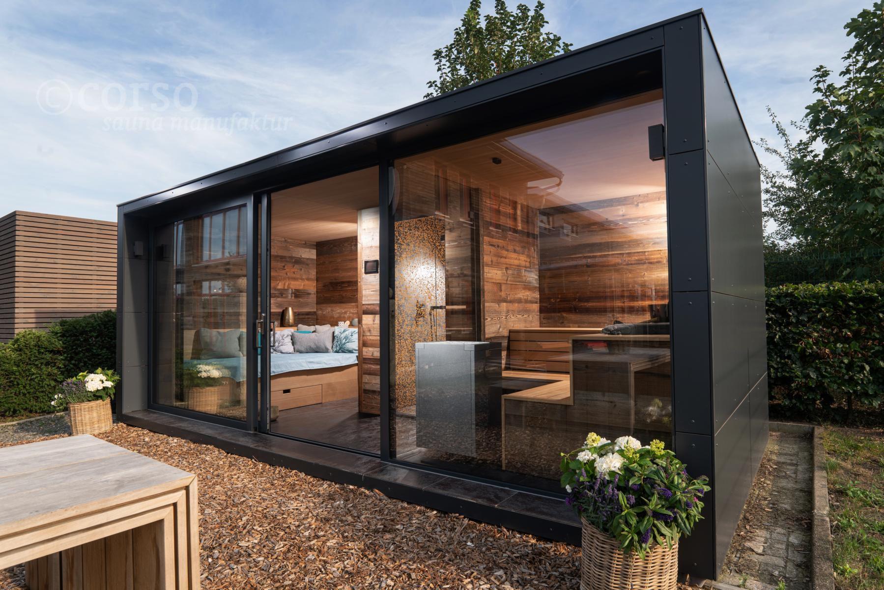 Aussensauna Corso Chalet Saunahaus Sauna Im Garten Gartenhaus Mit Sauna