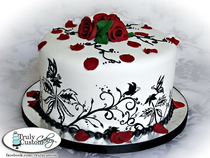 Happy Birthday Cake with Roses | Free Internet Pictures ...