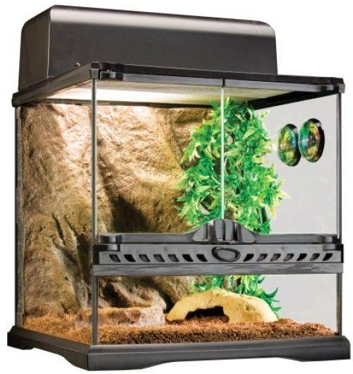 #Pet Habitat Kit #Reptile Exo Terra #Tank Cage Lizard Glass Heat Lamp Turtle