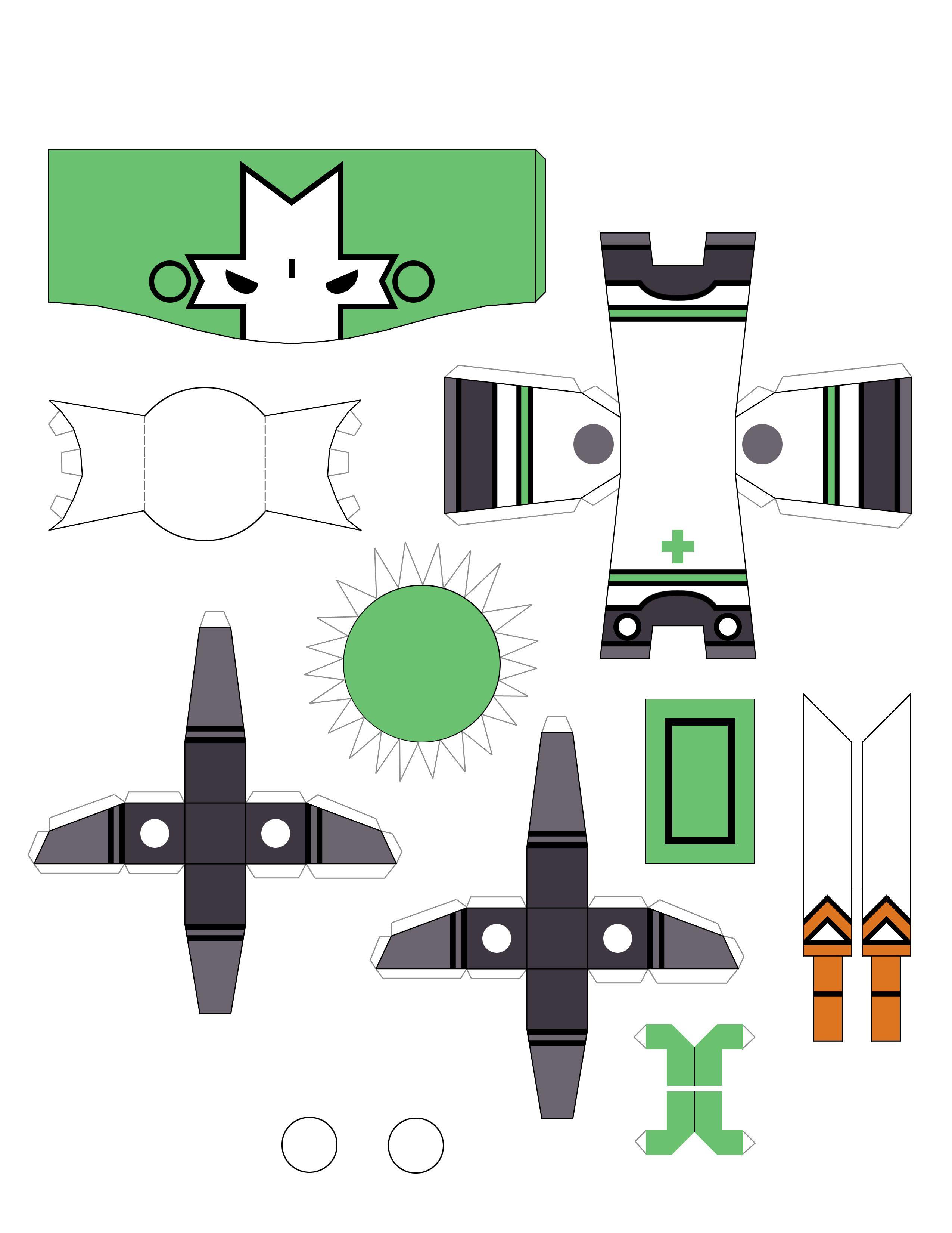 Castle Crashers Bonecos De Papel Desenhos Do Sonic Imprimiveis