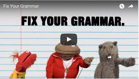 """Two Fun Videos for High School Grammar Lessons.    At the high school level, the following two videos offer fun introductions to grammar lessons.  """"fun examples from the web to explain the differences between """"its"""" and """"it's,"""" """"your"""" and """"you're,"""" and the proper uses of """"there,"""" """"they're,"""" and """"their."""" Glove and Boots also teach viewers when it is appropriate to use """"literally."""" The video is appropriate for high school audiences."""""""