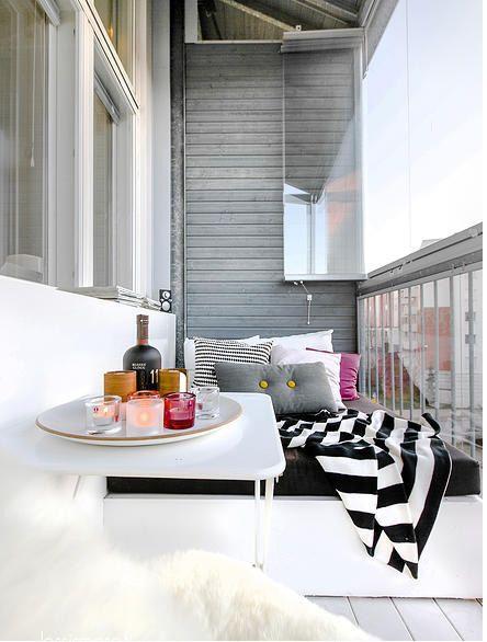 Luminoso loft finlandés Terrazas, Loft y Balcones - decoracion de terrazas pequeas