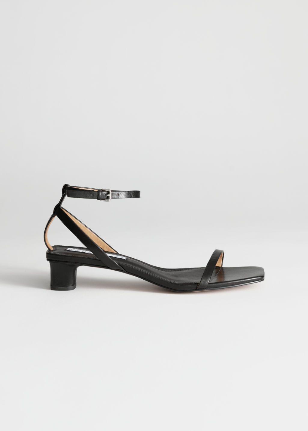 Leather Kitten Heel Sandals Kitten Heel Sandals Black Sandals Heels Sandals Heels