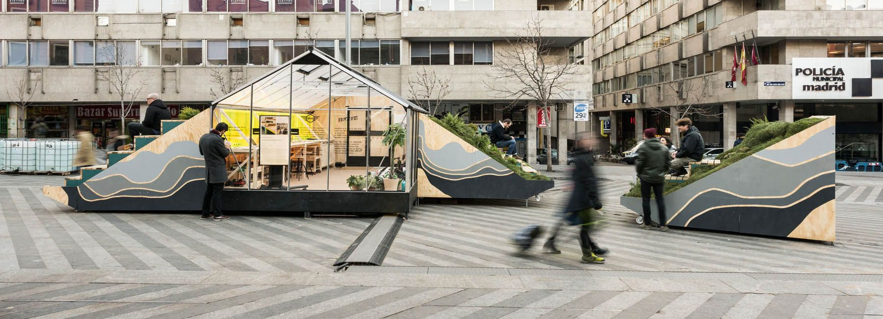 MINI hub installation in madrid rethinks the future of