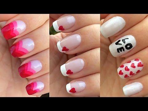 """3 unhas decoradas para o """"Dia dos Namorados"""" - YouTube"""
