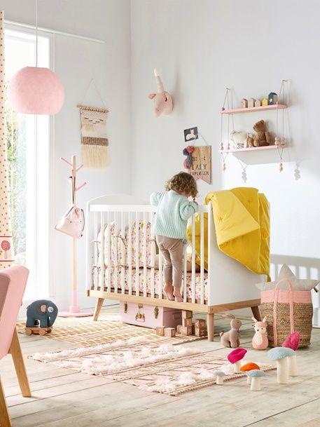 lit b b barreaux ligne confetti blanc baby. Black Bedroom Furniture Sets. Home Design Ideas