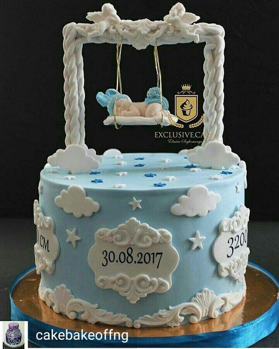 25 Tartas Para Bautizo Para Nenes Bebeazul Top Christening Cake Boy Birthday Cake Kids Baby Shower Cakes