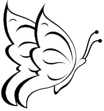 Fliegender Schmetterling Malvorlage   Zeichnen   Pinterest