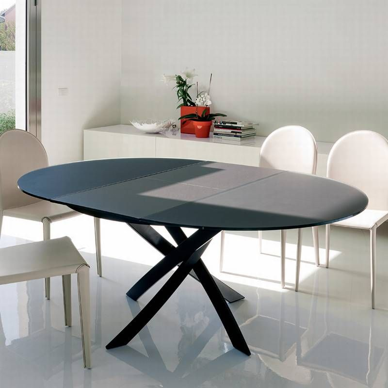 Barone Extending From Bontempi Round Dining Table Modern Round Dining Table Expandable Round Dining Table