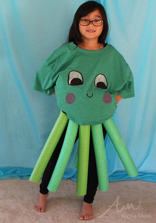 Octopus costume for kids under the sea series sea for Kids fish costume