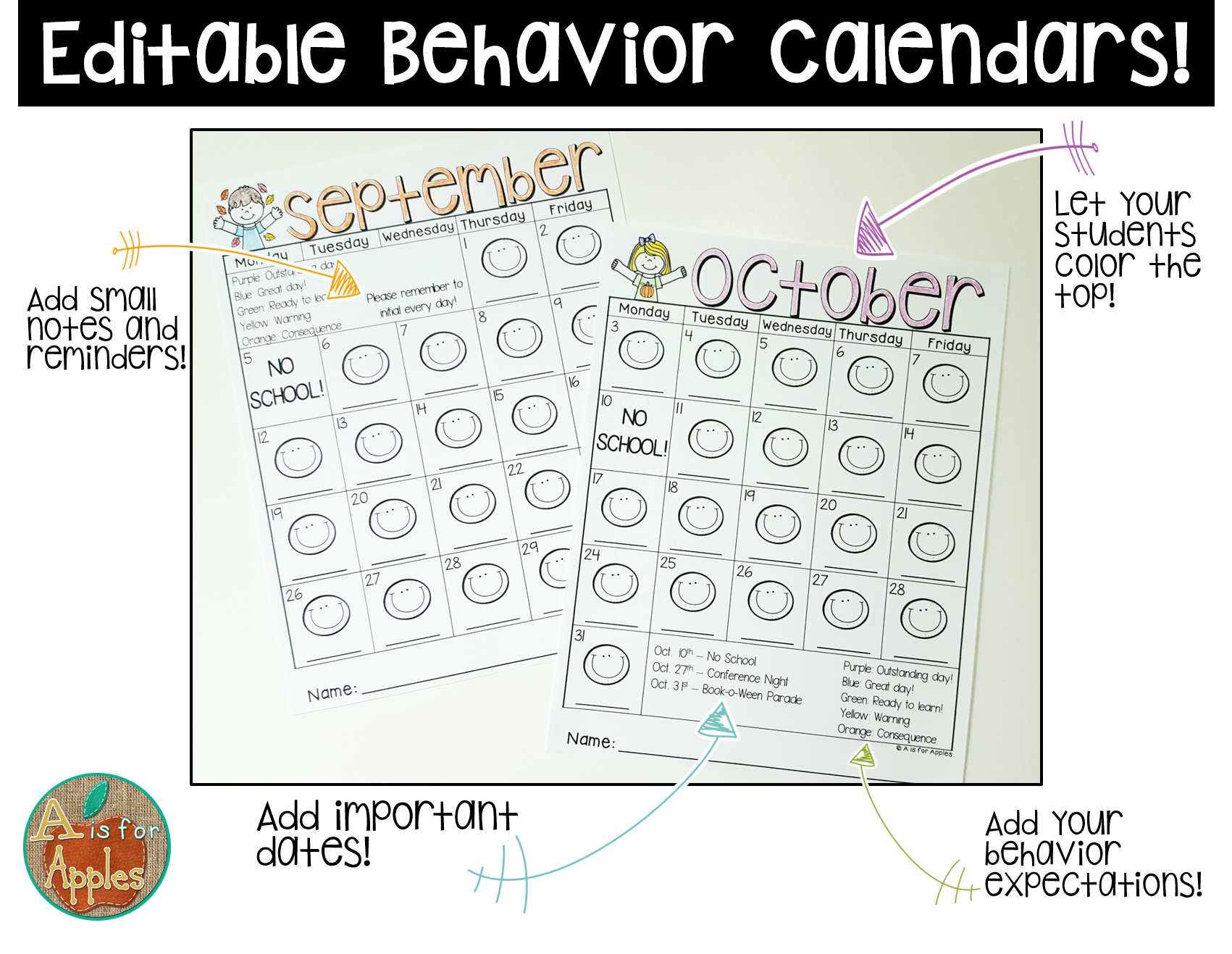 Behavior Calendars Editable