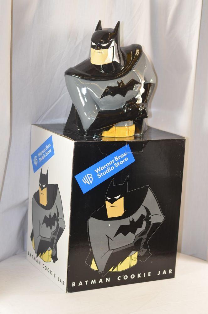 Batman Cookie Jar Warner Bros Studio Store Bust Ceramic in Original Box