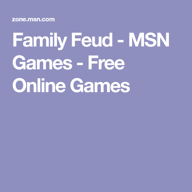 Family Feud - MSN Games - Free Online Games | Family Game