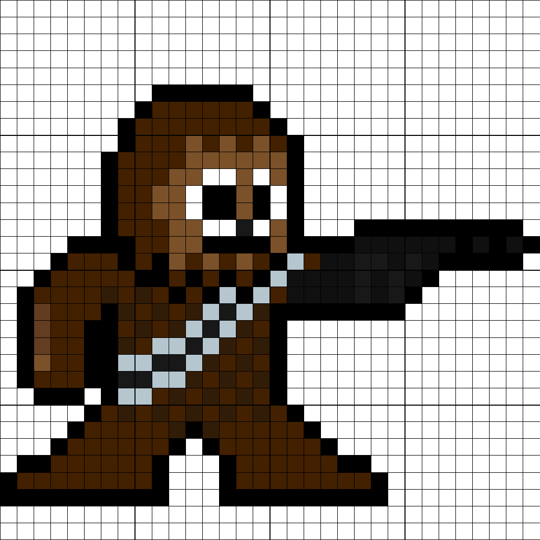 Chewbacca Perler Bead Pattern Melty Bead Patterns Pixel