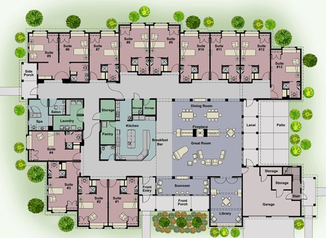 Cottages Floorplan Small Jpg 640 467 Pixels Home Design Floor Plans Hotel Floor Plan Hospital Floor Plan