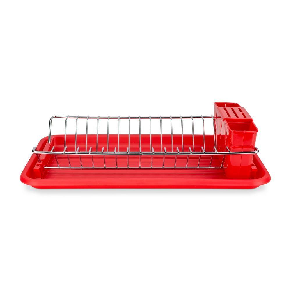 Best Home Basics Compact Red Dish Rack Dd01999 Dish Racks 400 x 300