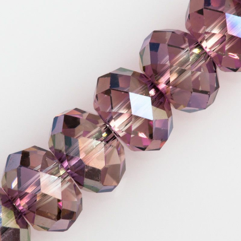 Swarovski Crystal 8x6mm 5040 Rondelle Bead Lilac Shadow (001 LISH)