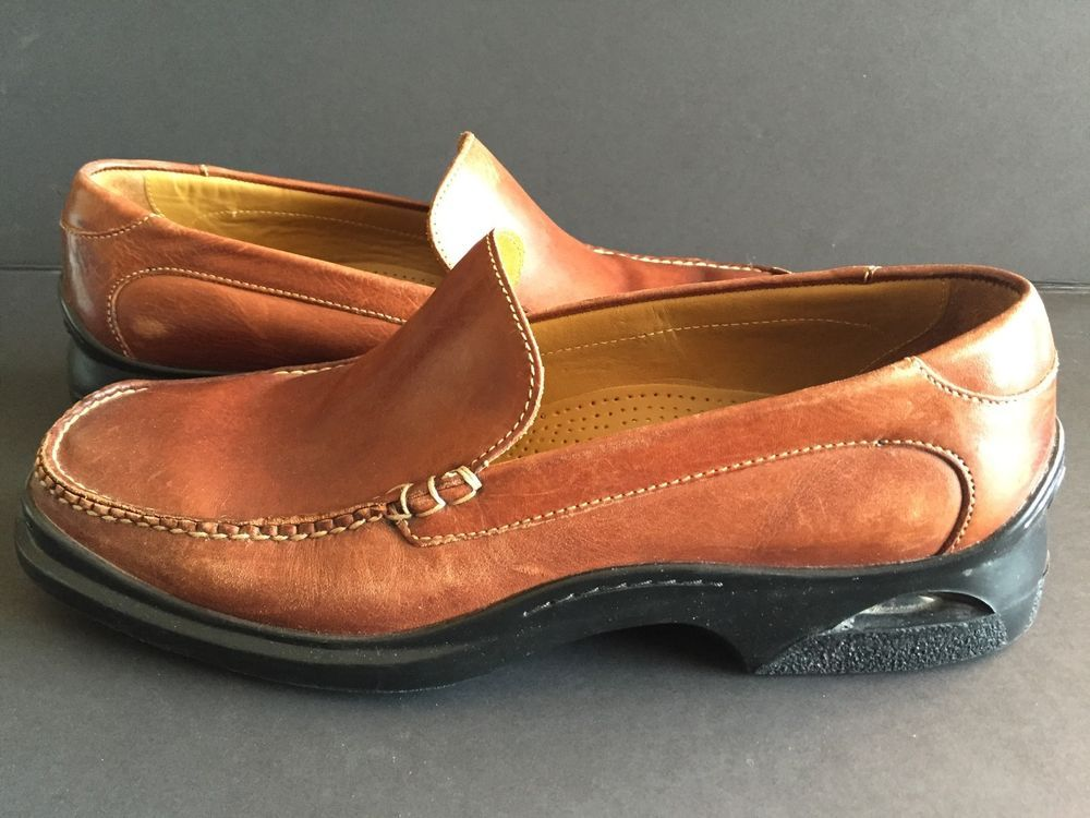 80ebb6bc183 Cole Haan Santa Barbara Nike Air Brown Slip On Moc Toe Loafer Men s US 10 M…