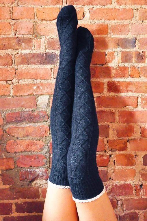 b83aaea43 6) Name   Knitting    Diamond in the Ruffle  Cable Knit Socks ...