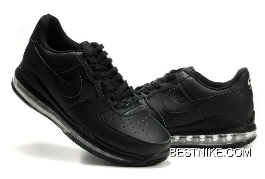 AF1 Air Force One Max Fusion Shoes Low All Black Lastest in