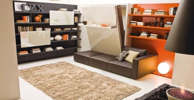 Transformable Furniture, Side Folding Bed, Sofa Wallbed .