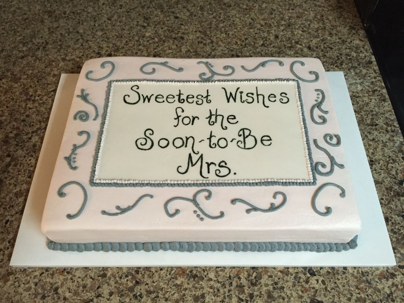 bridal shower cake sayings bridal shower cake 10x14 torted sheet cake frosted in 2062
