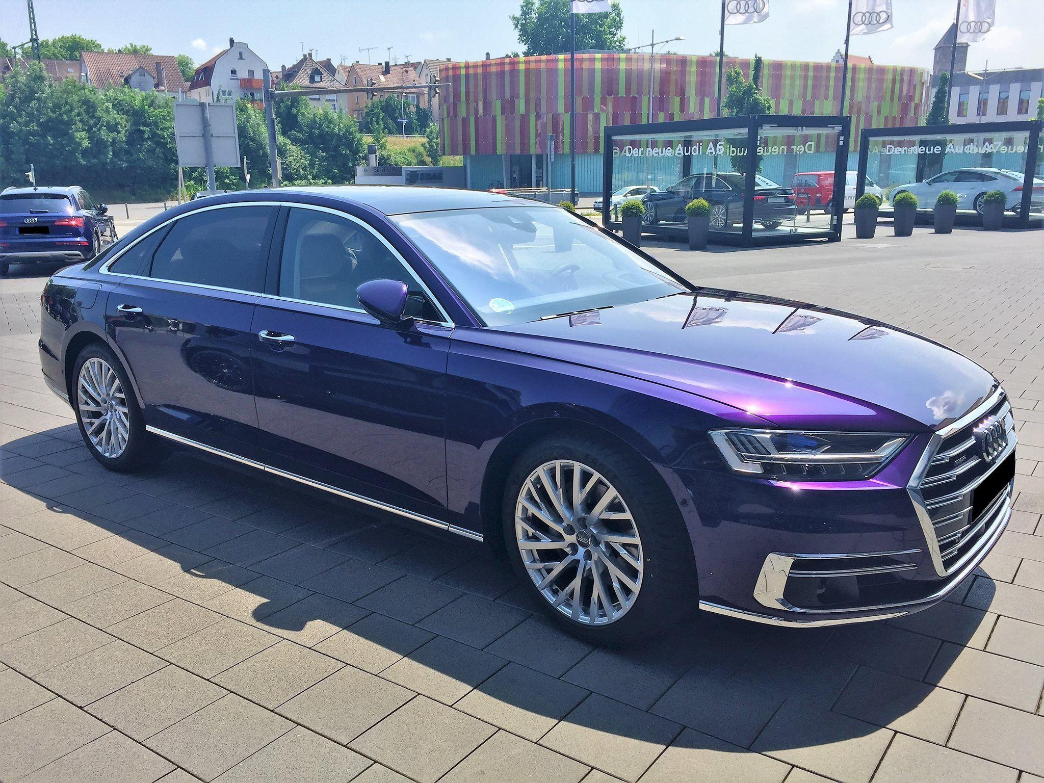 Audi A8 In Velvet Purple Is Worthy Of Being Prince S Car Audi