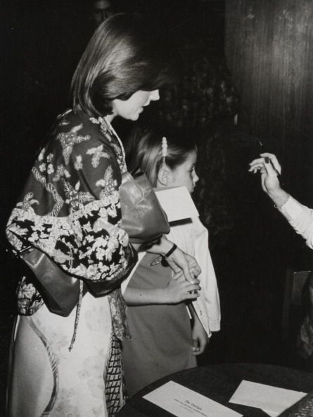 Priscilla Presley and Lisa Marie Presley during 'Raggedy Ann & Andy' Premiere at Century City Plaza Theater in Century City, California. March 26, 1977