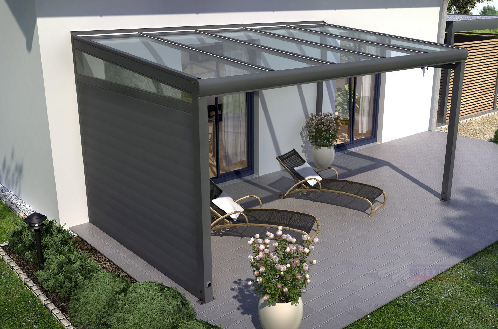 Terrassenüberdachungen aus Holz oder Alu Stegplatten und