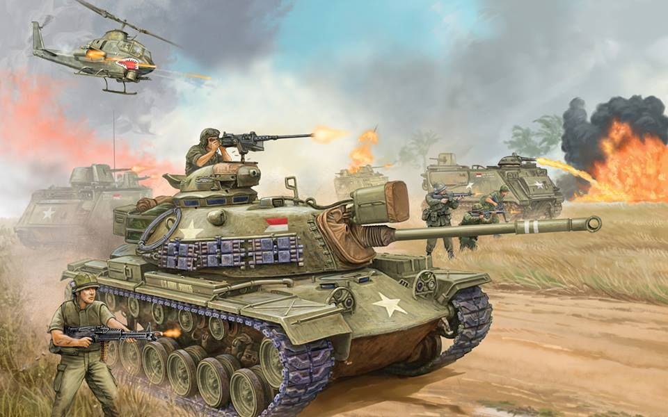 M48 Patton tank | Tanks military, Patton tank, Vietnam art