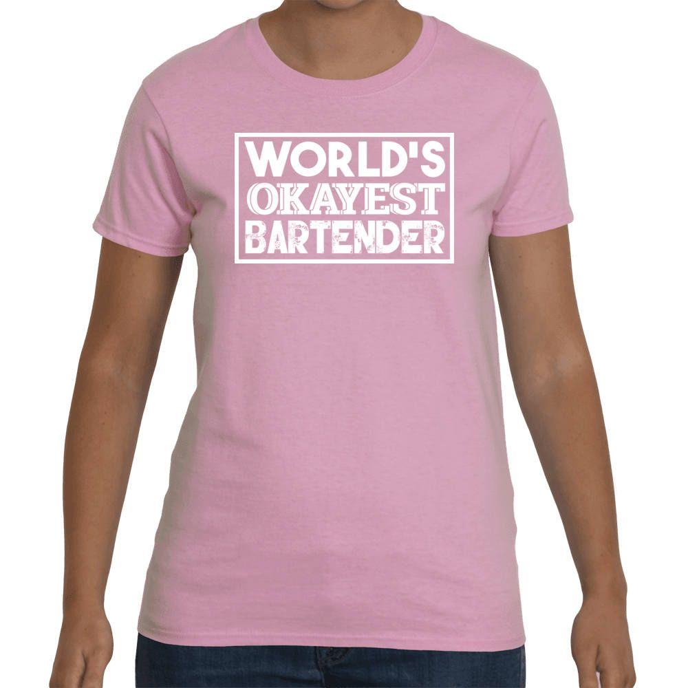 cd897b7c Bartender Shirt, World's Okayest Bartender, Funny Bar Shirts, Bartender  Gifts, Funny Bartender Tee, Funny Gift Shirt,V-Neck Style. by InkyLionTees  on Etsy