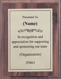 sponsor plaque band booster pto pinterest football gifts and boys