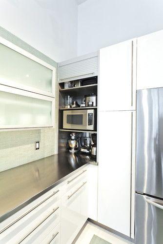 Appliance garage- corner. Looks like Ikea | Kitchen Planning ...