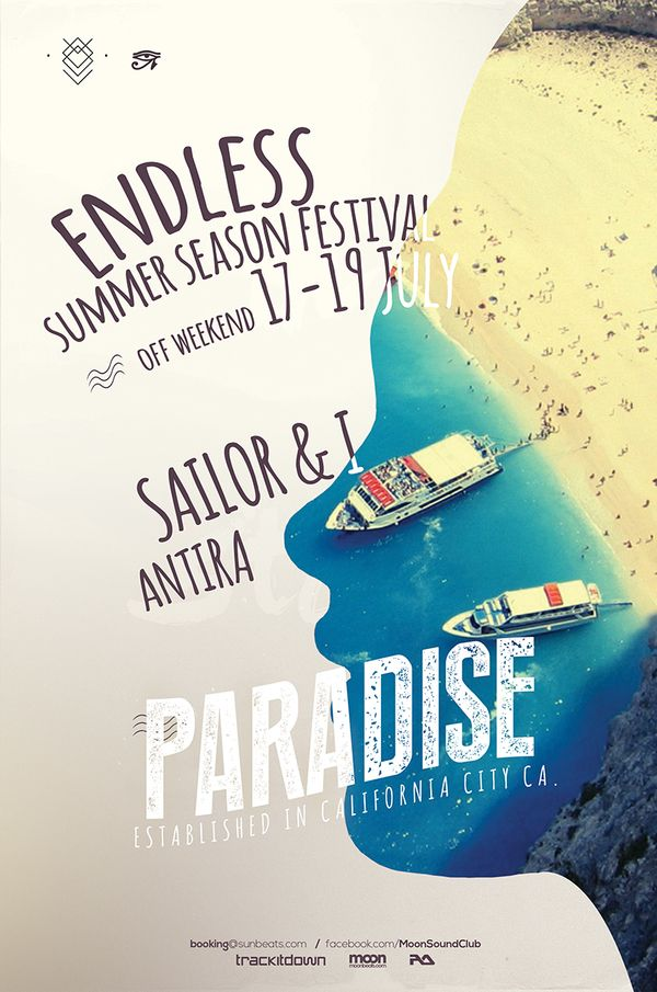 Paradise Summer Poster  This Flyer Poster Can Be Used For The
