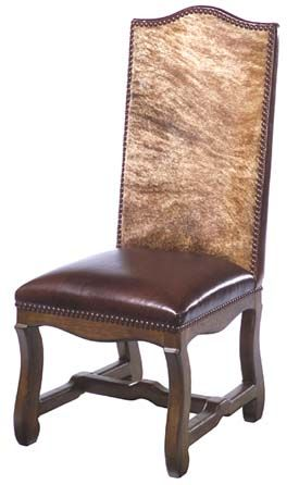 Wonderful Colt Western Chair Western Dining Chairs   Cowhide Chair Back And Leather  Seat. No Two Cowhides Are Alike, So You Can Expect A Variation In The  Markings, ...