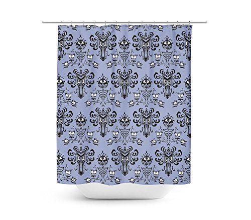 Haunted Mansion Wallpaper Shower Curtain 60x72 Medium Unique In 4