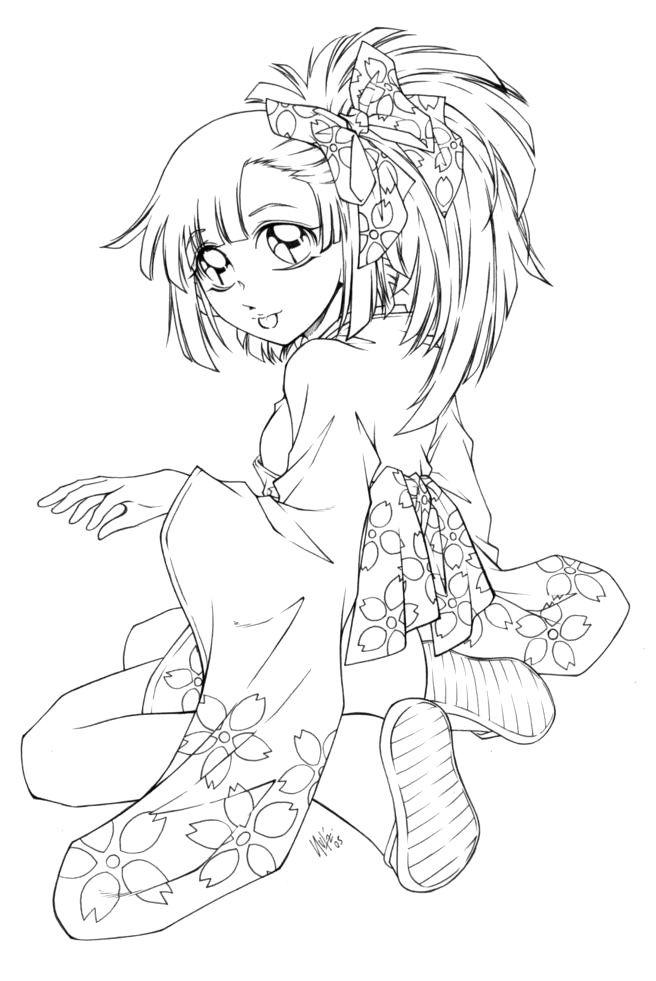 Girl In Mini Kimono By Sureya Deviantart Com On Deviantart