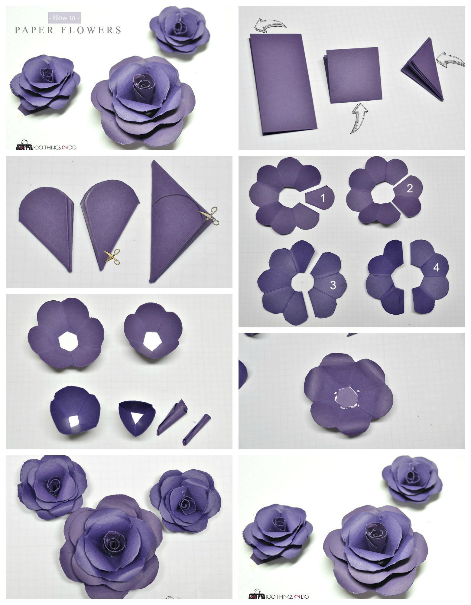 How To Make Paper Flowers Projects To Try Pinterest Paper