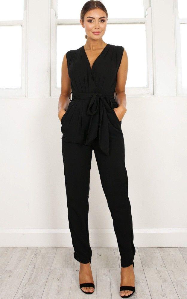 29d1060779e1 Workaholic jumpsuit in black SHOWPO Fashion Online