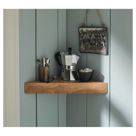 Target Floating Shelves Delectable Natural Wood Corner Shelf  Threshold™  Corner Shelf Shelves And