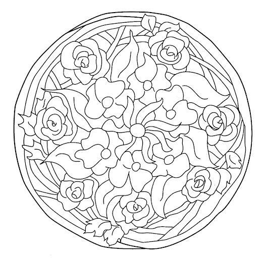 Mandalas de flores y hojas para pintar | Mandalas Para Pintar ...