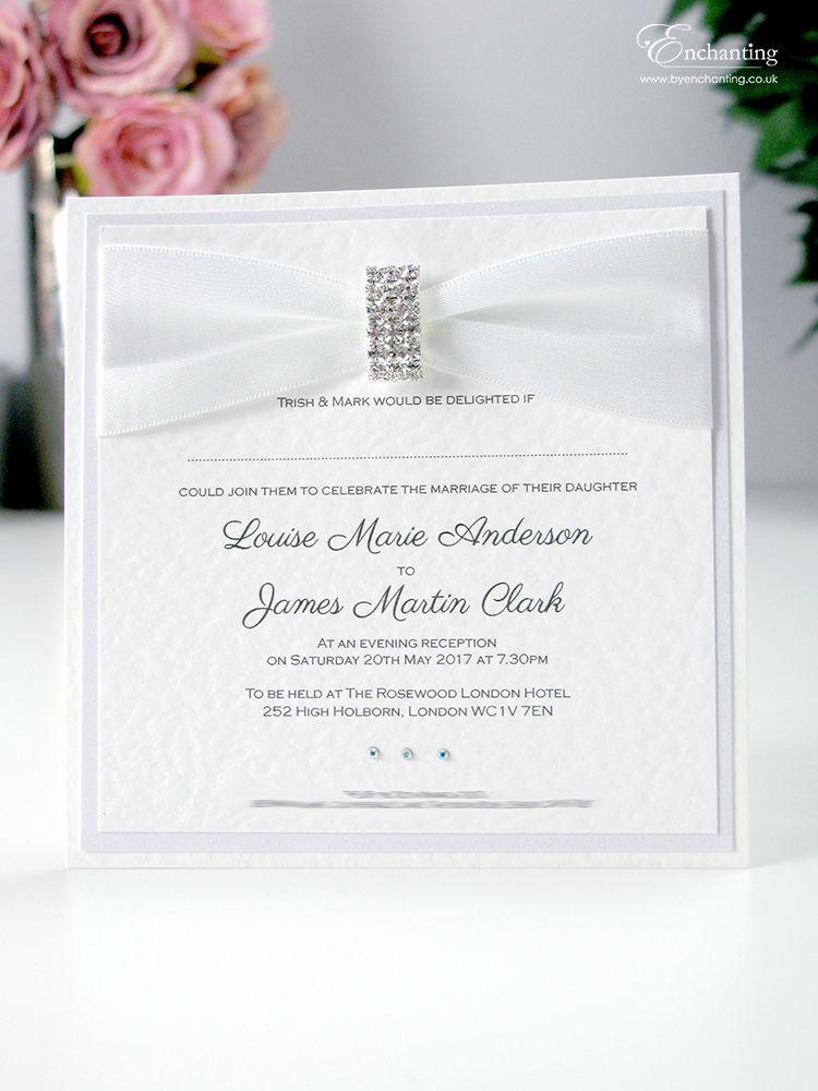 Beautiful White Wedding Postcard Invitation | Wedding | Pinterest ...