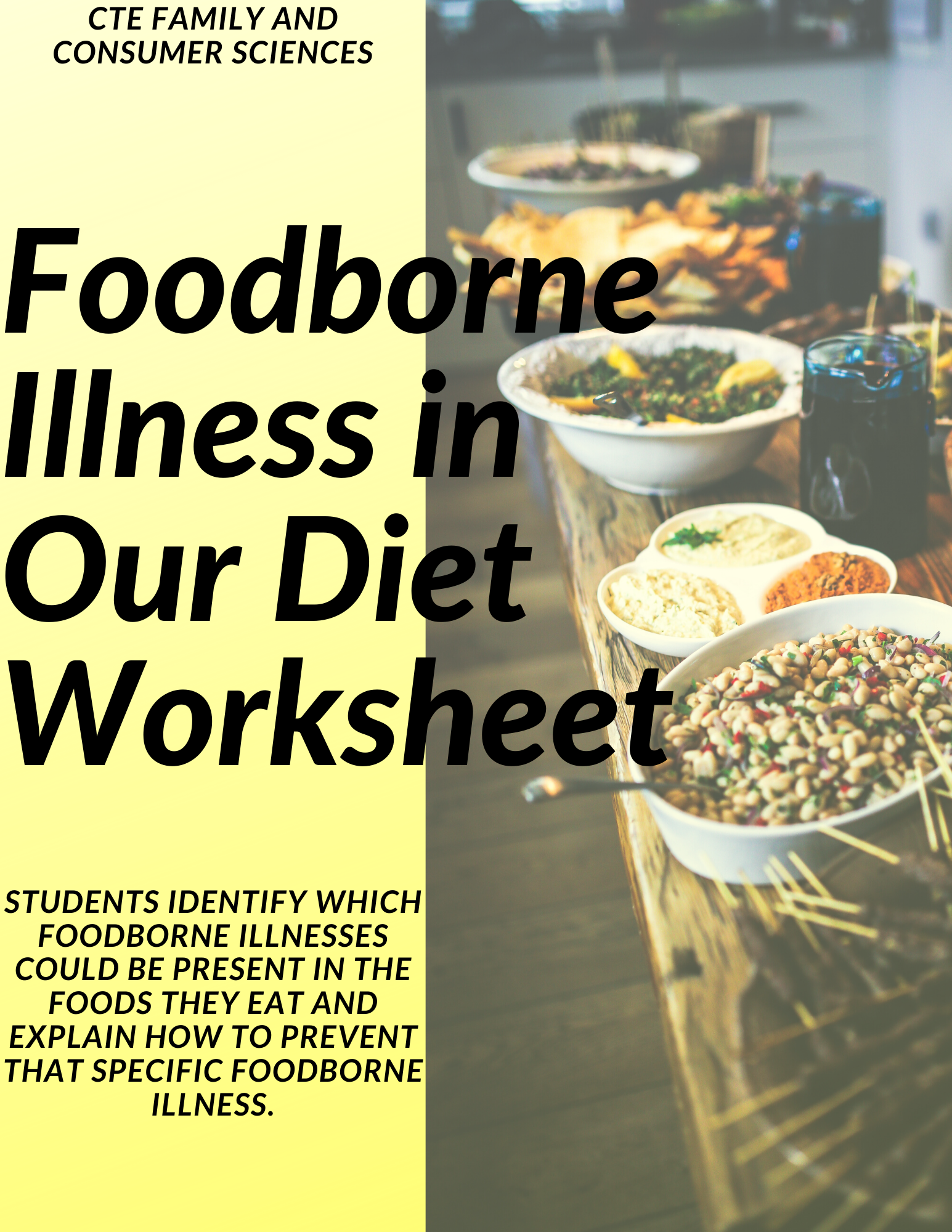 Foodborne Illness In Ourt Worksheet Nutrition