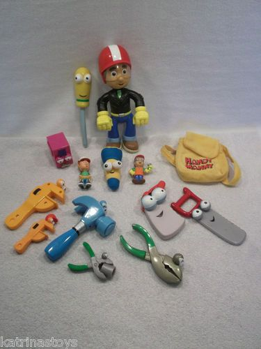 Lot of USED Disney Handy Manny toy figures pat dusty squeeze flicker stretch