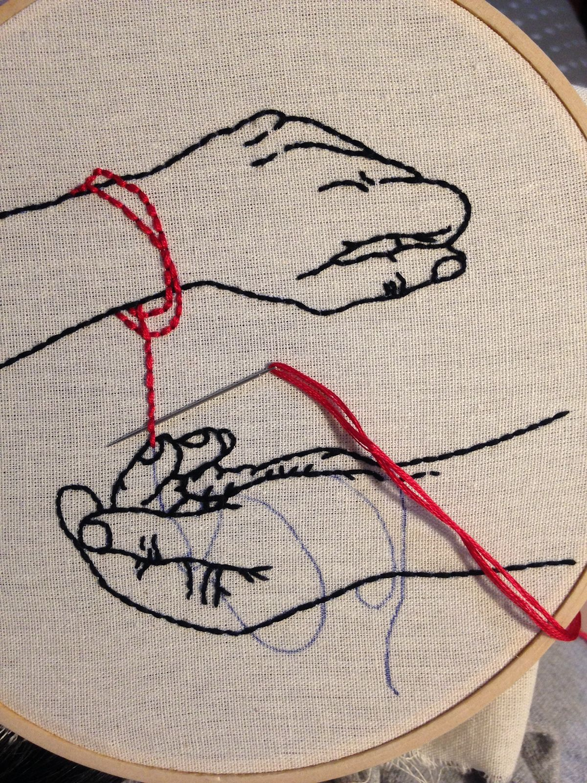 Hilo Rojo Del Destino On Behance Embroidery Art Embroidery Hoop Art Hand Embroidery Patterns