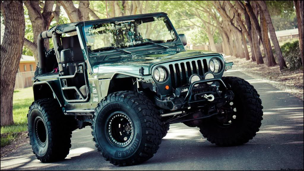 Tj With Pitbull Tires And Metalcloak Fenders Yields Clearance And